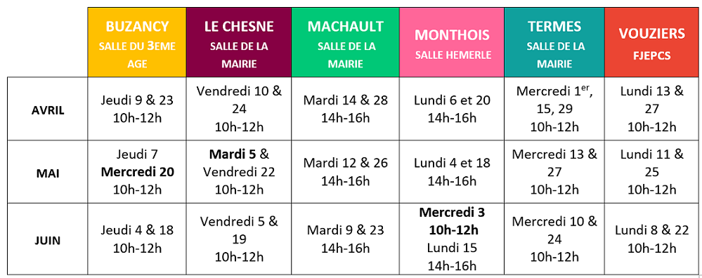 Cafe Num Itinerant Calendrier Avril Juin